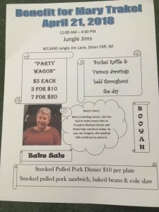 Benefit for Mary Trakel @ Jungle Jim's  Pub & Grub | Athelstane | Wisconsin | United States